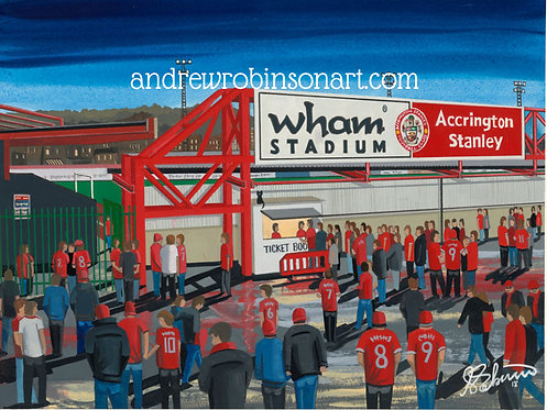 Accrington Stanley F.C, Crown Ground High Quality framed Print