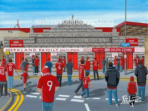 Aberdeen FC, Pittodrie Stadium Framed High Quality Art Print