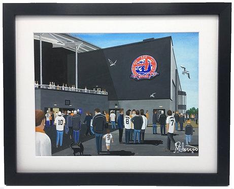 A.F.C Fylde, Mill Farm Stadium Framed High Quality Art
