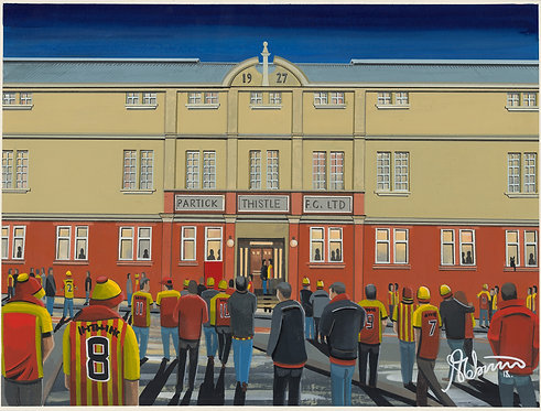 Partick Thistle F.C, Firhill Stadium. Framed High Quality Art Print