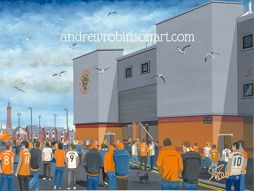 Blackpool F.C, Bloomfield Road Stadium High Quality framed Print