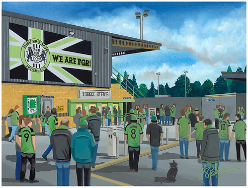 Forest Green Rovers New Lawn Stadium High Quality Framed Artists Proof Print