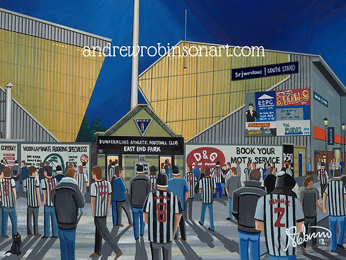 Dunfermline Athletic F.C, East End Park Stadium Framed High Quality Art Print