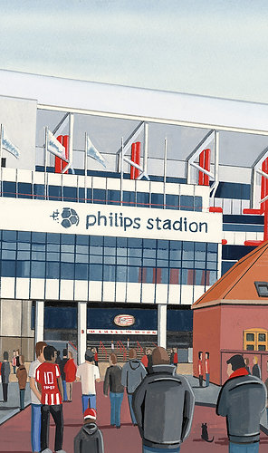 PSV Eindhoven, Philips Stadion Framed High Quality Art Print