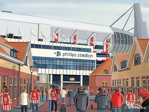 PSV Eindhoven, Philips Stadion Framed High Quality Art Print