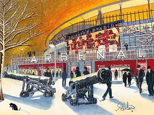 Arsenal F.C, Emirates Stadium High Quality Framed Giclee Art Print