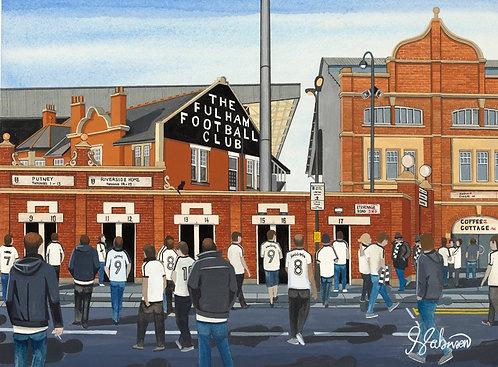 Fulham F.C, Craven Cottage Stadium High Quality Framed Giclee Art Print