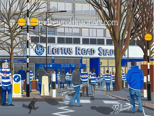 QPR F.C, Loftus Stadium High Quality Framed Giclee Art Print