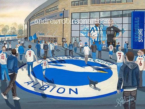 Brighton & Hove Albion F.C, AMEX Stadium (Artists Proof) Framed Giclee Art Print