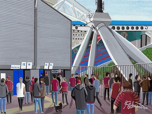 Huddersfield Giants John Smiths Stadium Framed High Quality Art Print