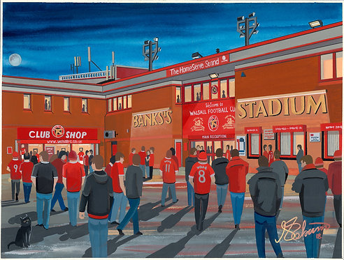 Walsall FC Banks's Stadium High Quality Framed Art Print