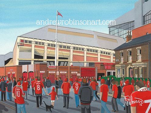Liverpool F.C Spion Kop Anfield Stadium Framed High Quality Art Print
