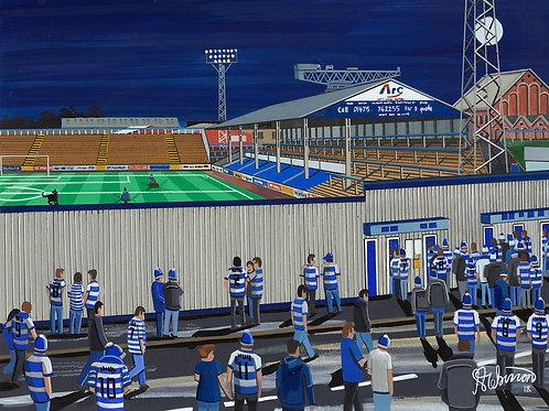 Greenock Morton F.C, Cappielow Park Stadium Framed High Quality Art Print
