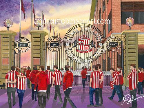 Sunderland A.F.C, Stadium of Light High Quality framed Giclee Art Print