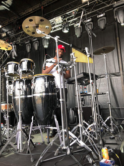 Sheldon behind Percussions