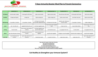 7 Days Immunity Booster Meal Plan
