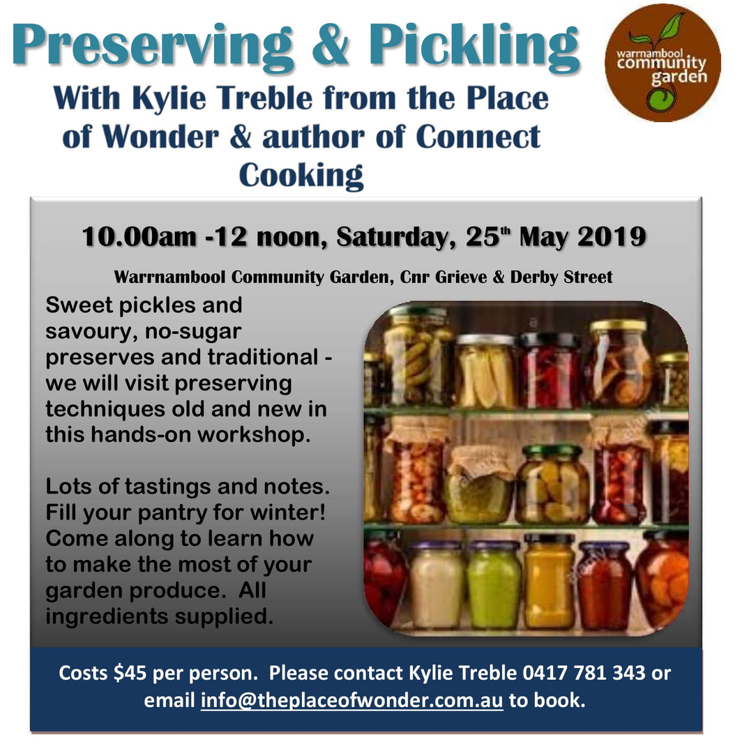 Pickling & Preserving Workshop May 2019-