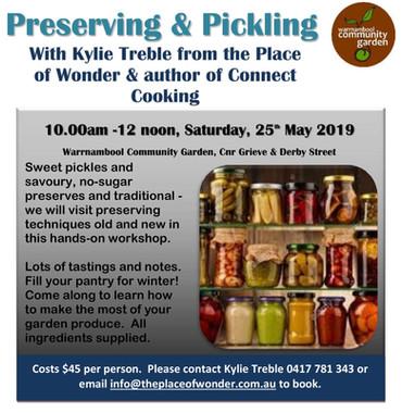 Pickling & Preserving Workshop May 2019-