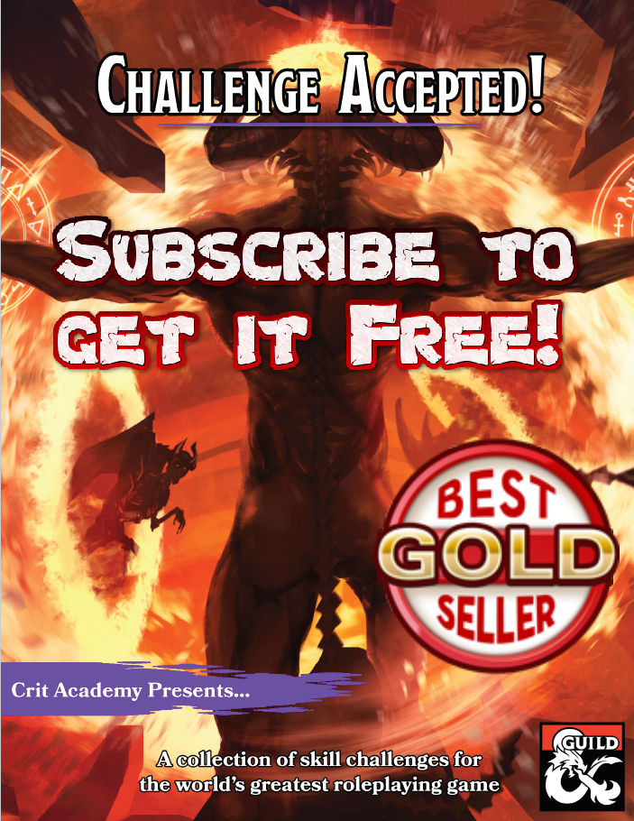 challenge accepted Dungeons and Dragons skill challenge supplement cover