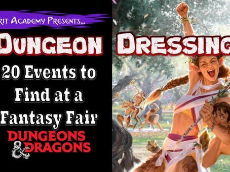 Dungeon Dressing: 20 Festival Games and Events to Find in your Dungeons & Dragons Game