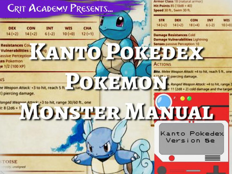 Bring Pokémon Monsters to your Dungeons & Dragons Game