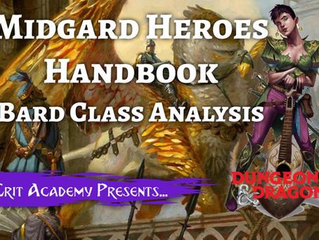 Midgard Heroes Handbook: Bard Class Analysis