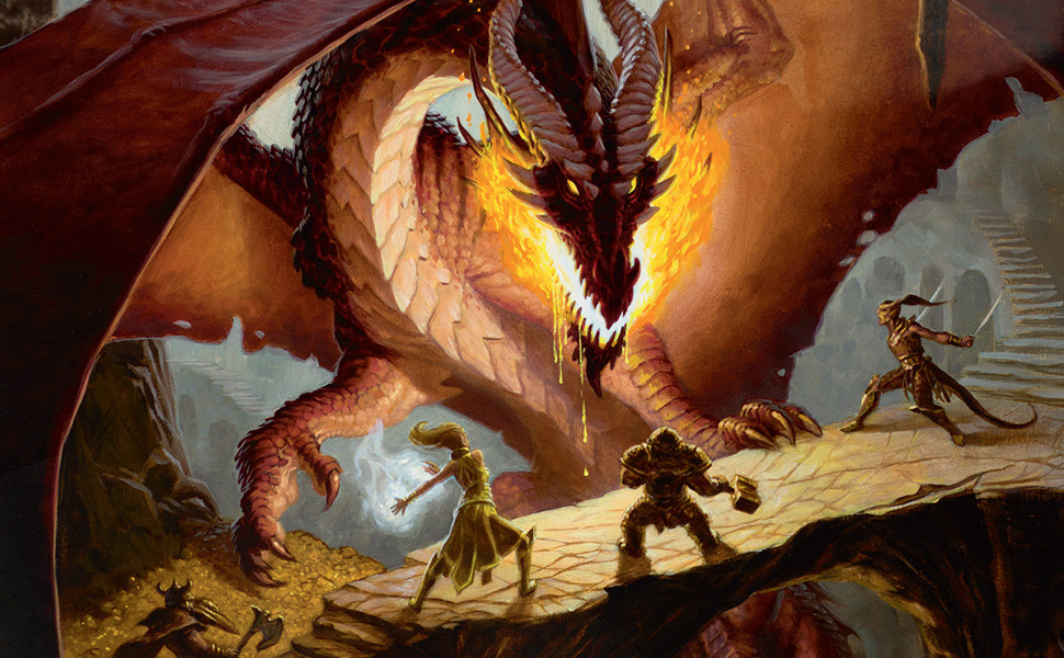 dragon fighting adventurers dungeons and dragons