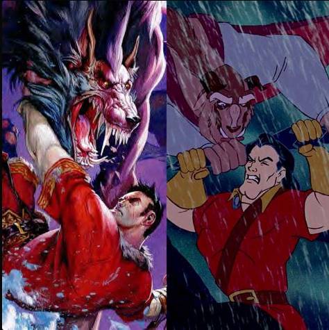 Dungeons & Dragons Beast and Gaston