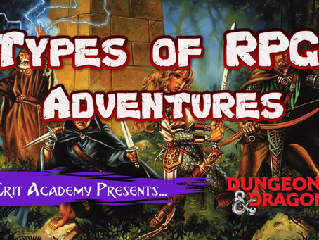 Types of RPG Adventures