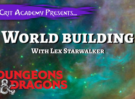 World Building Primordia: W/ Lex Starwalker of Game Masters Journey