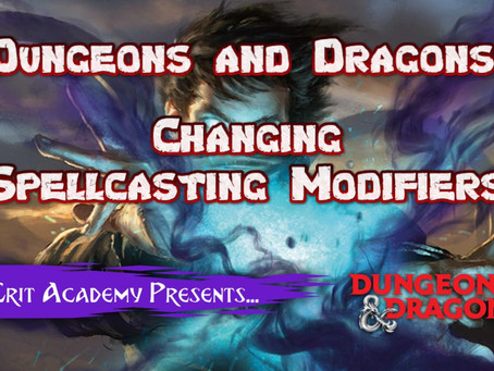 Changing Spellcasting Modifiers in D&D 5e