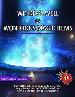 Witikers Well of Wondrous Magic Items Co