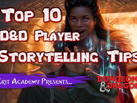 10 D&D Player Storytelling Tips!