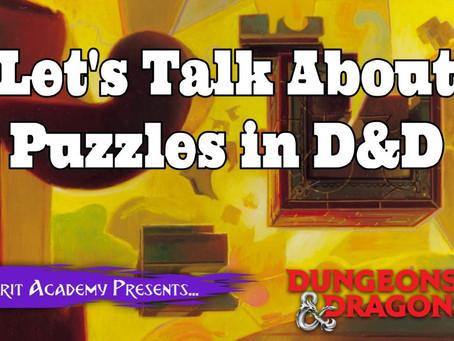 Let's talk about puzzles.