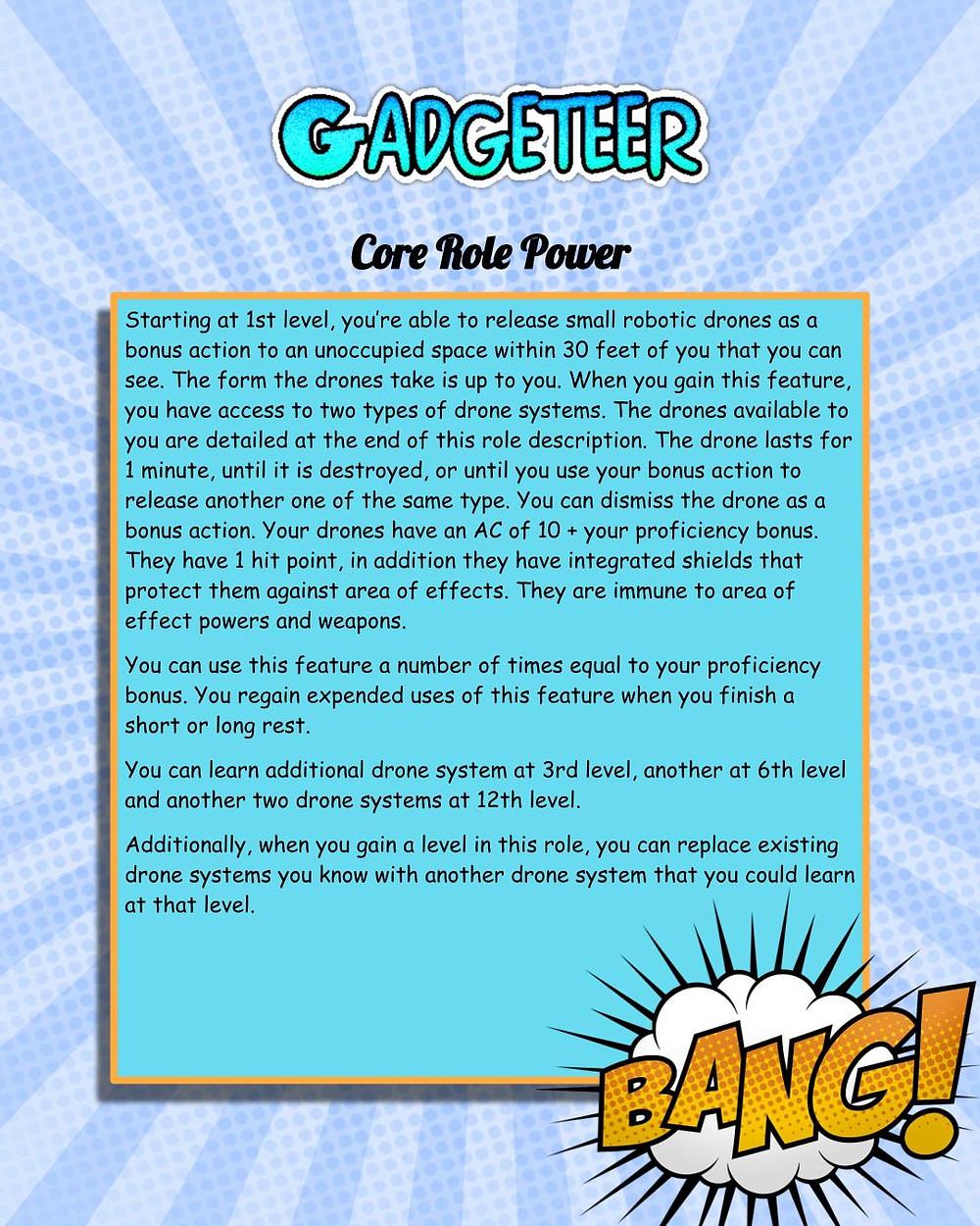 Capes & Crooks Gadgeteer 5e Power