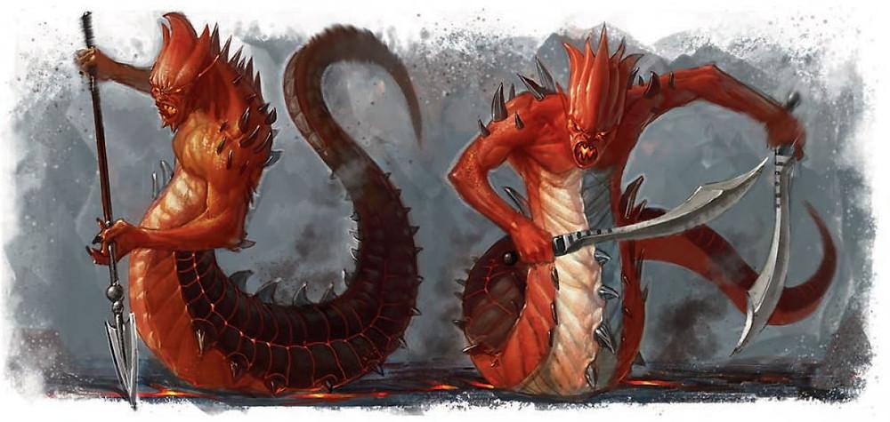 Salamanders monster D&D dungeons & dragons