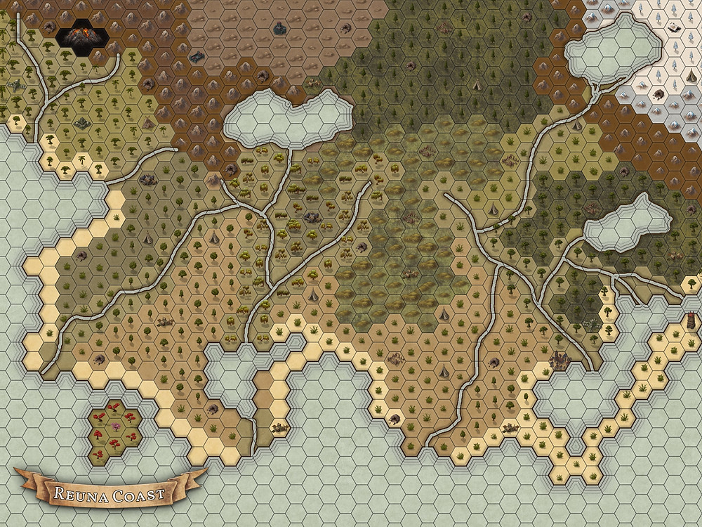 Inkarnate Hexmap Dungeons & Dragons rpg world map