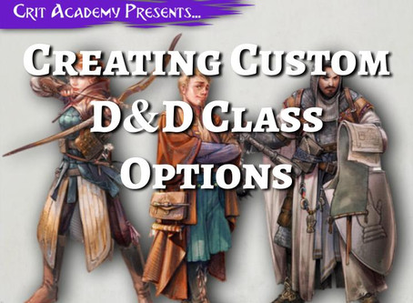 Creating Custom Class Options