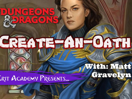 Create-An-Oath| Dungeons and Dragons Subclass Design