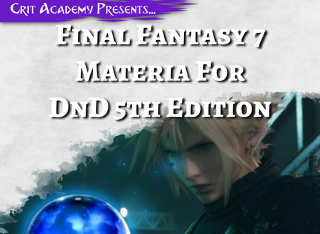 Final Fantasy 7 Materia for D&D 5th Edition