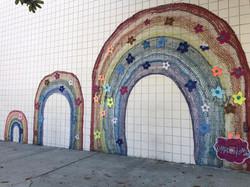 Rainbow Mural Wall