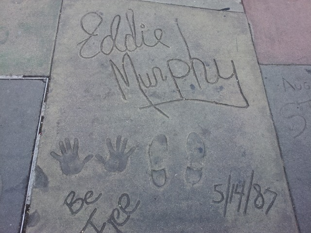 Eddie Murphy handprints in Hollywood