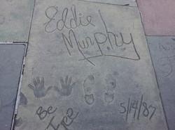 Eddie Murphy handprints in Hollywood