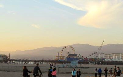 Sunset view overlooking Santa Monica