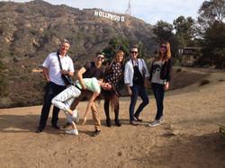 Silly posing at Hollywood Sign