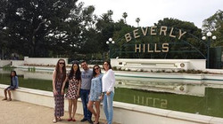 Tour group at Beverly Gardens Park