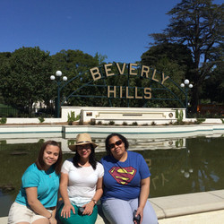 Girlfriends with Beverly Hills Sign