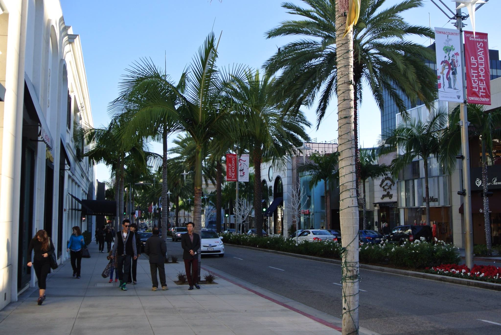 View of Rodeo Drive in Beverly Hills