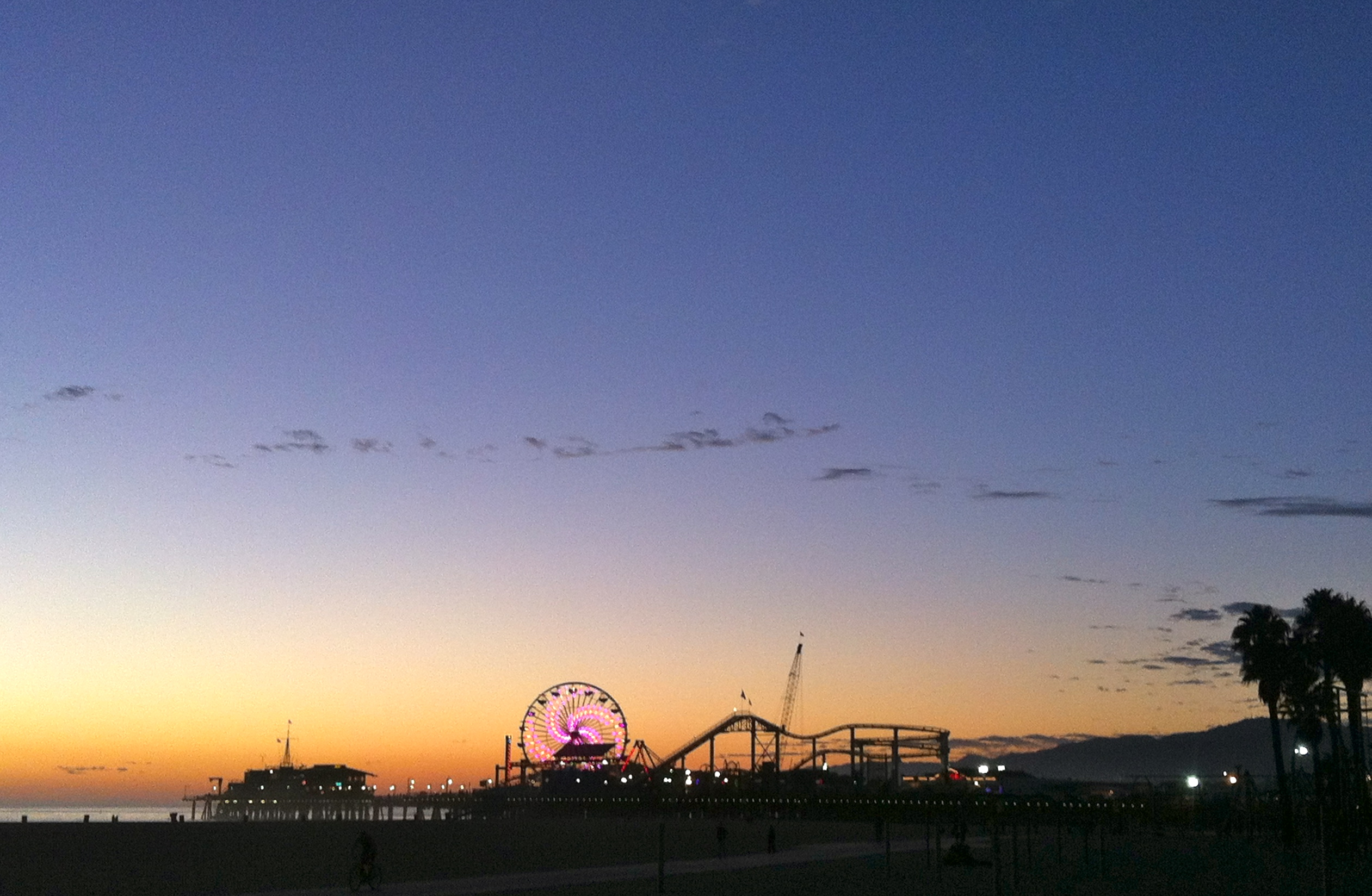 Sunset view over Santa Monica Pier