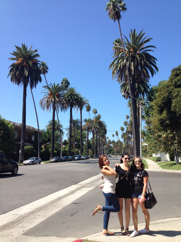 Tour group on Beverly Hills street